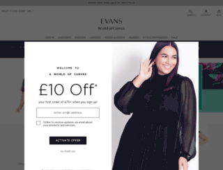 evans.co.uk screenshot
