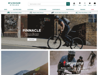 evanscycles.com screenshot