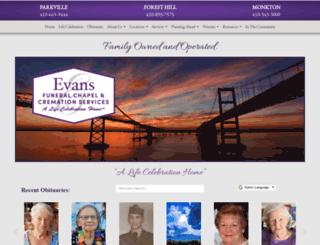evansfuneralchapel.com screenshot
