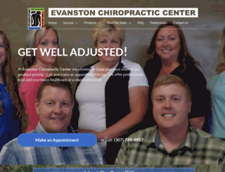 evanstonchiropracticcenter.com screenshot