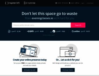 eveningclasses.ie screenshot