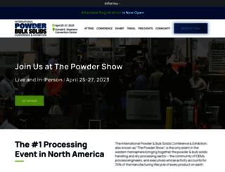 event.powderbulksolids.com screenshot
