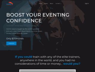 eventingtrainingonline.com screenshot