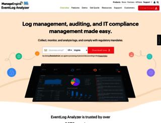 eventloganalyzer.com screenshot