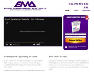 eventmanagementaus.com.au screenshot