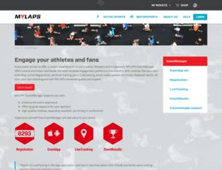 eventmanager.mylaps.com screenshot