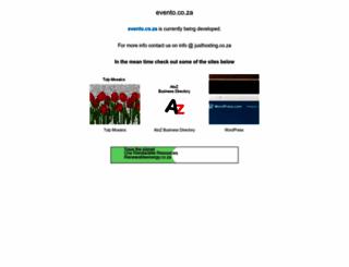 evento.co.za screenshot