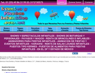 eventosyfiestasinfantiles.com.mx screenshot