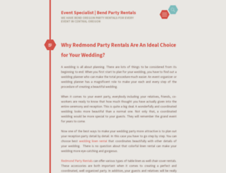 eventpartyrentals.wordpress.com screenshot