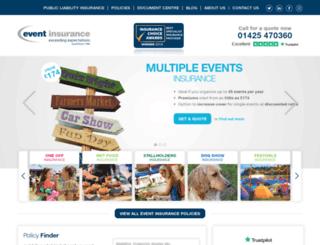 events-insurance.co.uk screenshot