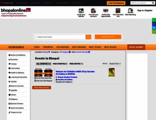 events.bhopalonline.in screenshot