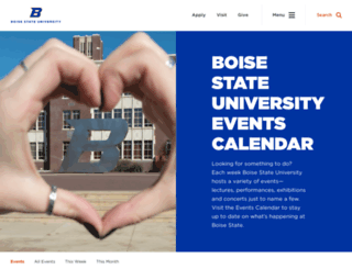 events.boisestate.edu screenshot