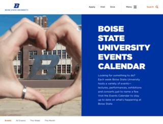 events.boisestate.edu screenshot
