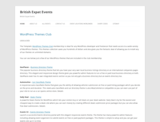 events.britishexpatriates.com screenshot