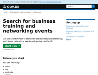 events.businesslink.gov.uk screenshot