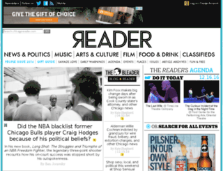 events.chicagoreader.com screenshot
