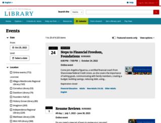 events.cmlibrary.org screenshot