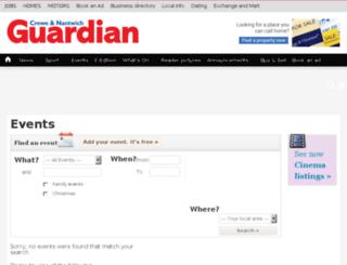 events.creweguardian.co.uk screenshot