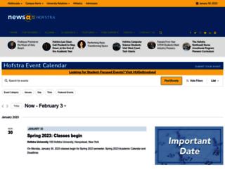 events.hofstra.edu screenshot