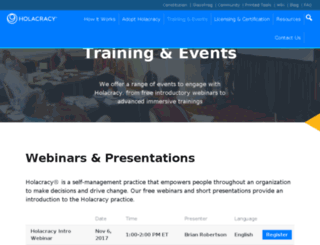 events.holacracy.org screenshot