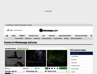 events.mississauga.com screenshot