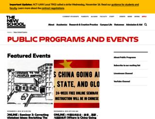 events.newschool.edu screenshot