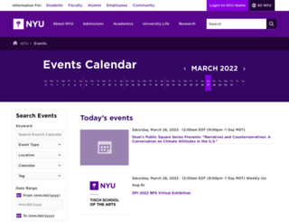 events.nyu.edu screenshot