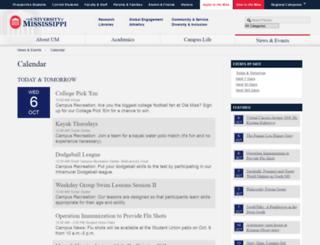 events.olemiss.edu screenshot