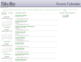 events.pausd.org screenshot