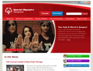events.specialolympicspa.org screenshot