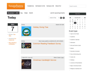 events.susqu.edu screenshot