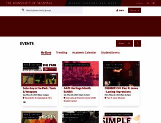 events.ua.edu screenshot