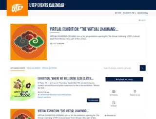 events.utep.edu screenshot