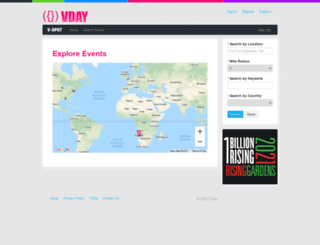 events.vday.org screenshot