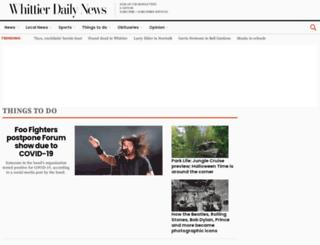 events.whittierdailynews.com screenshot