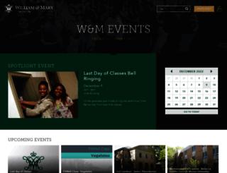 events.wm.edu screenshot
