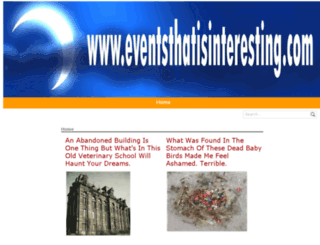 eventsthatisinteresting.com screenshot