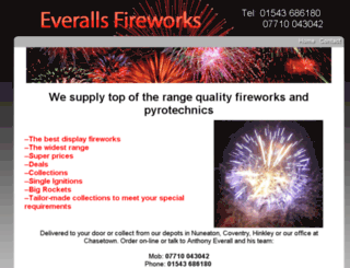 everallsfireworks.com screenshot