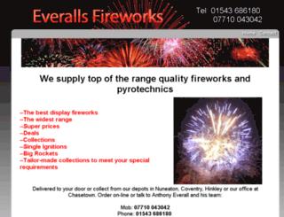 everallsfireworks.com screenshot