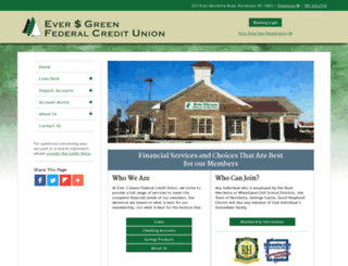 evergreenfcu.com screenshot