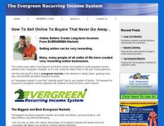 evergreenrecurringincomesystem.com screenshot