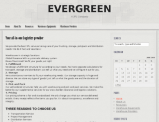 evergreenxwarehousing.com screenshot