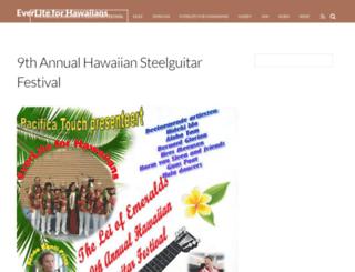 everliteforhawaiians.com screenshot