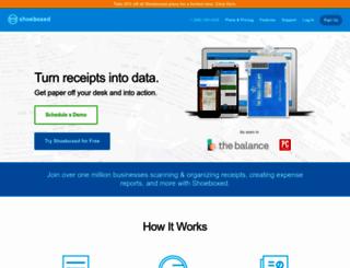 evernote.shoeboxed.com screenshot