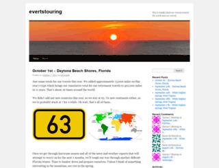evertstouring.wordpress.com screenshot