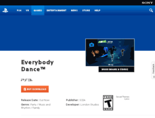 everybodydancegame.com screenshot