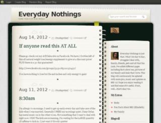 everydaynothings.blog.com screenshot