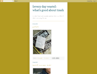 everydaywaste.blogspot.com screenshot