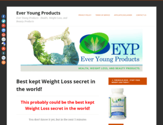 everyoungproducts.com screenshot