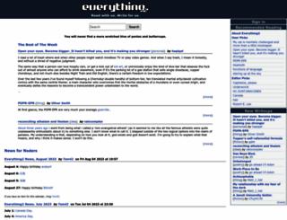 everything2.com screenshot